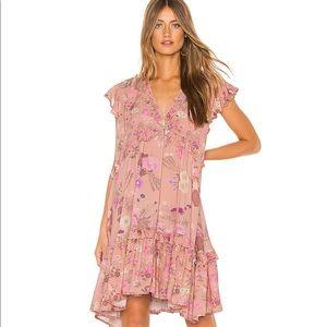 Spell and The Gypsy Wild Bloom Mini Dress XL Blush